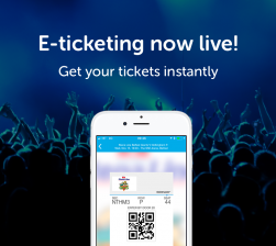 E ticketing now live card ad spot