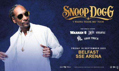 Snoop Dogg 2022 Belfast Banner
